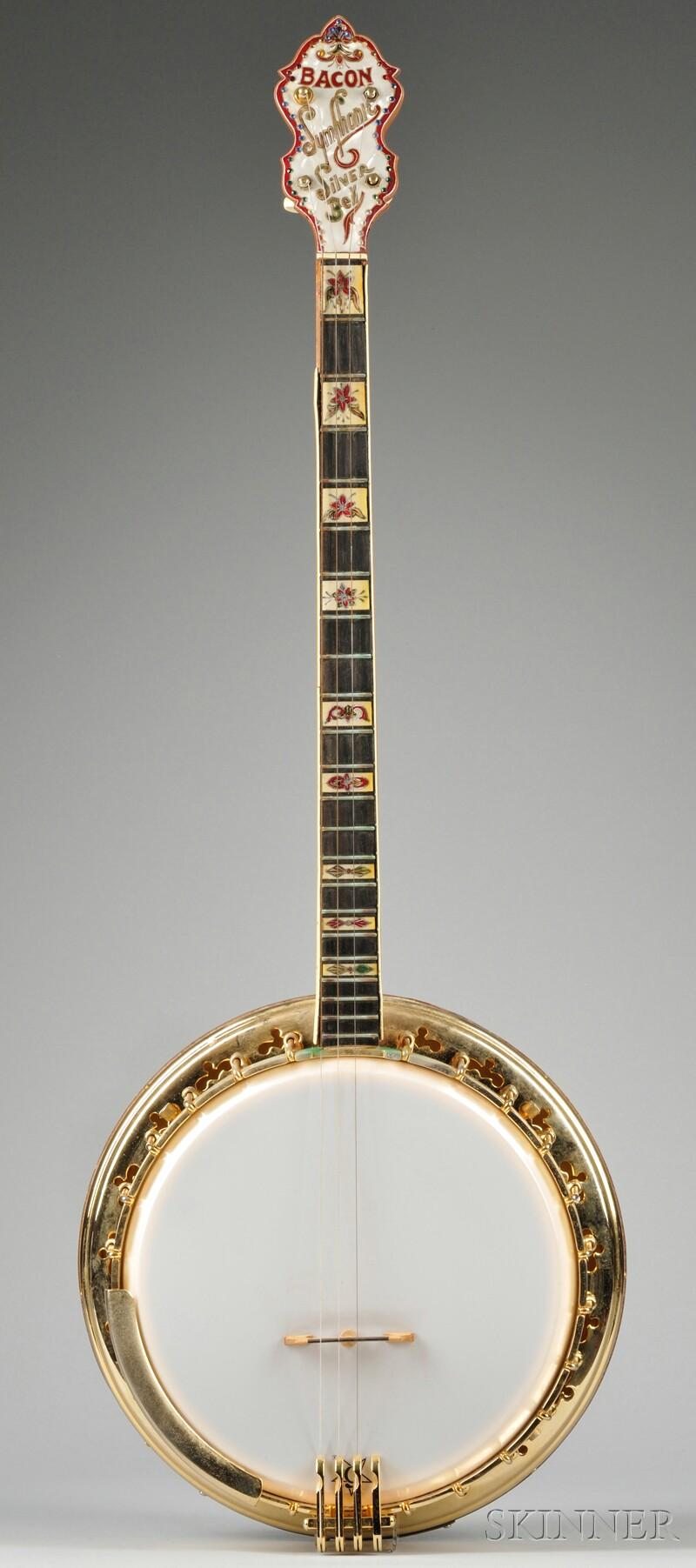 American Tenor Banjo, Bacon Manufacturing Company, Groton, c. 1940, Model Silver Bel
