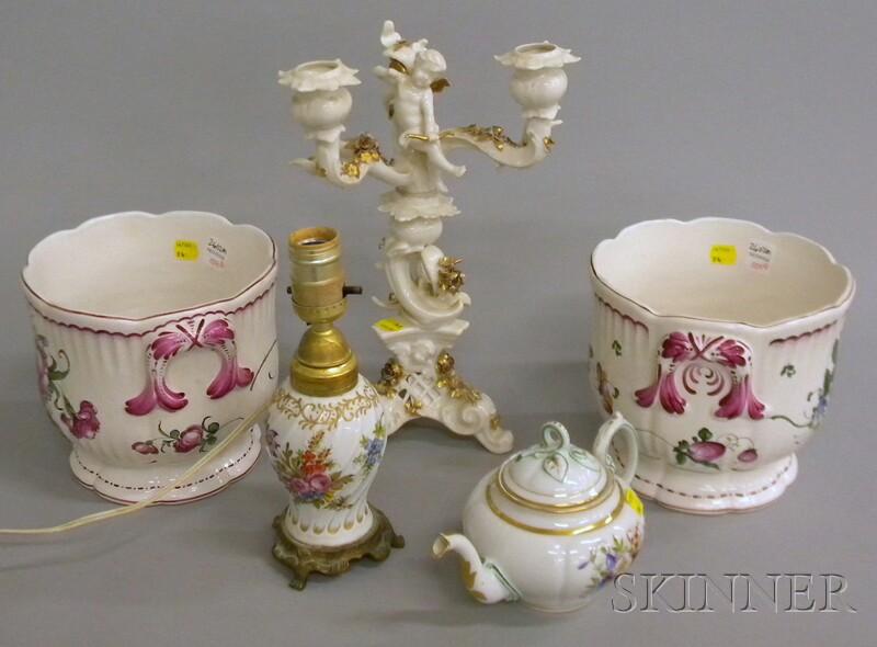 Five Assorted European Ceramic Table Items