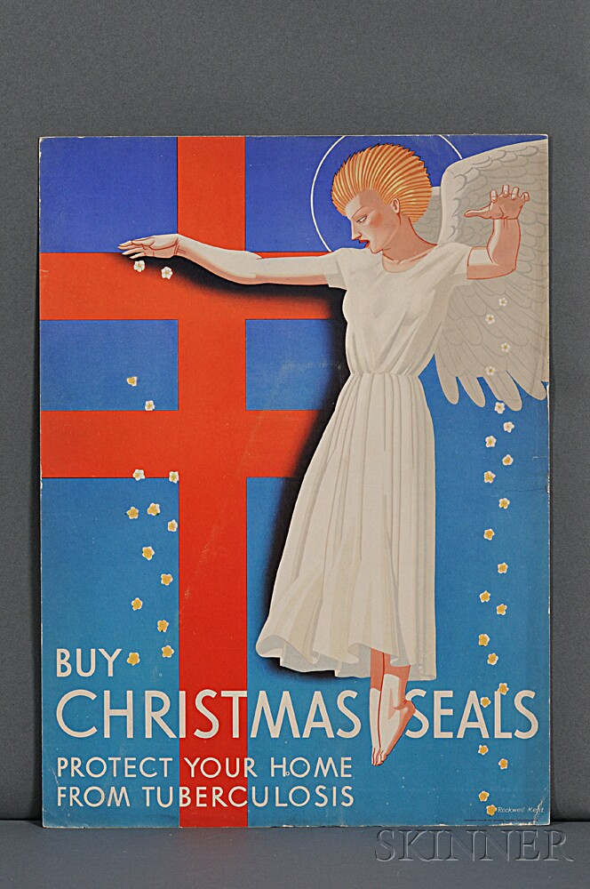 Kent, Rockwell (1882-1971) Christmas Seals Proof, Brochure, and Poster, 1939.