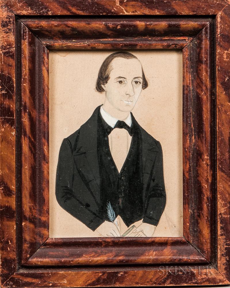 Jane A. Davis (Connecticut/Rhode Island, 1821-1855)      Portrait of George B. Sisson of Warren, Rhode Island