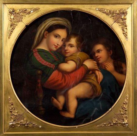 After Raphael (Italian, 1483-1520)    Madonna Della Sedia.