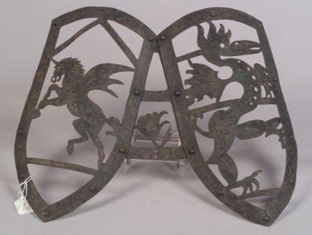 Mediaeval-style Wrought Iron Armorial Decoration