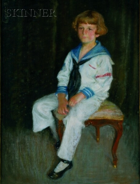 American School, 20th Century    Portrait of a Child in a Sailor Suit
