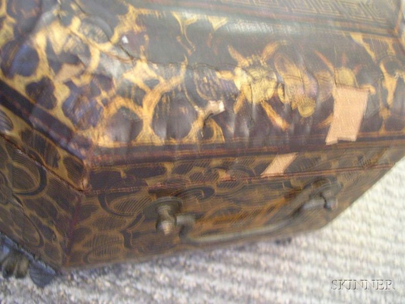 Two Victorian Japanned Sewing Boxes