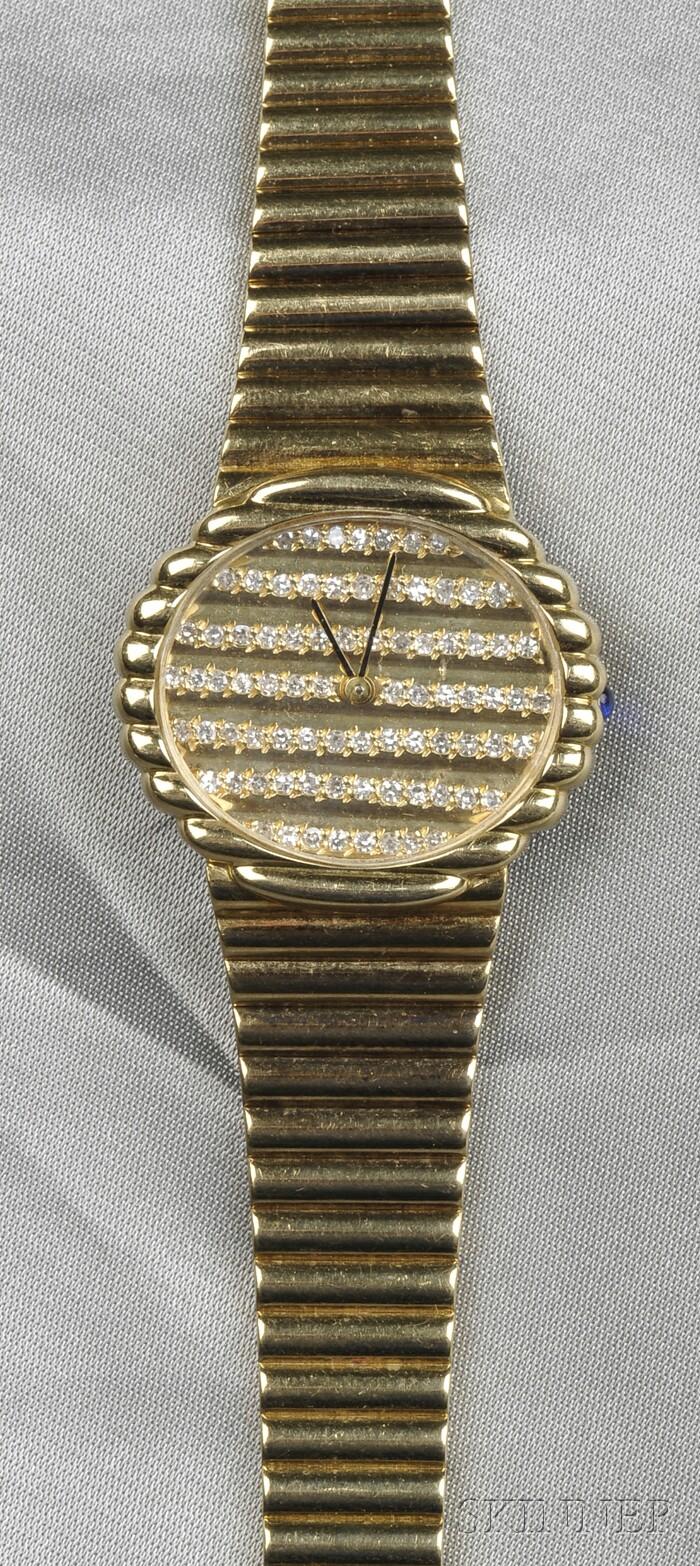 18kt Gold and Diamond Wristwatch