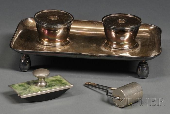 George V Britannia Standard Silver Standish