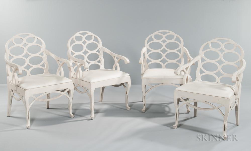 Four Frances Elkin (1883-1953) Loop Chairs