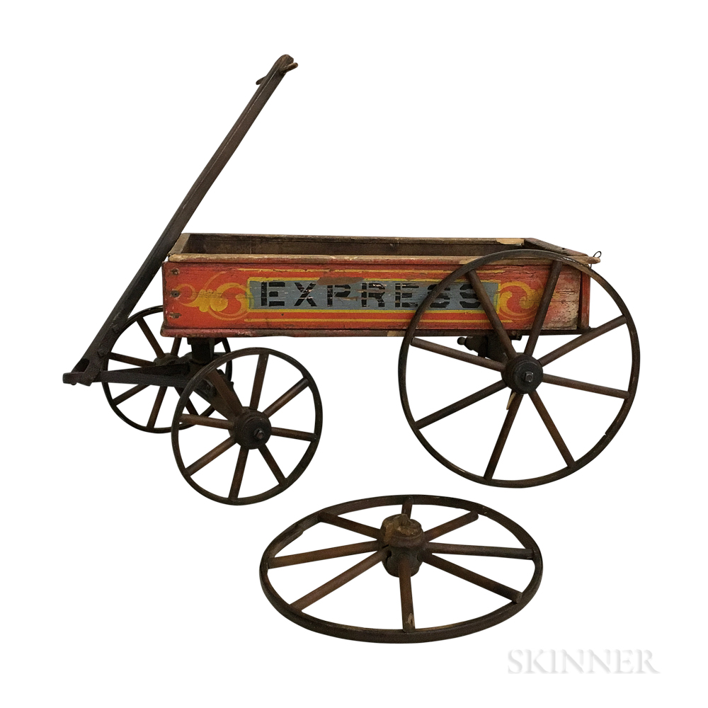 """Painted and Stenciled """"Express"""" Wagon"""