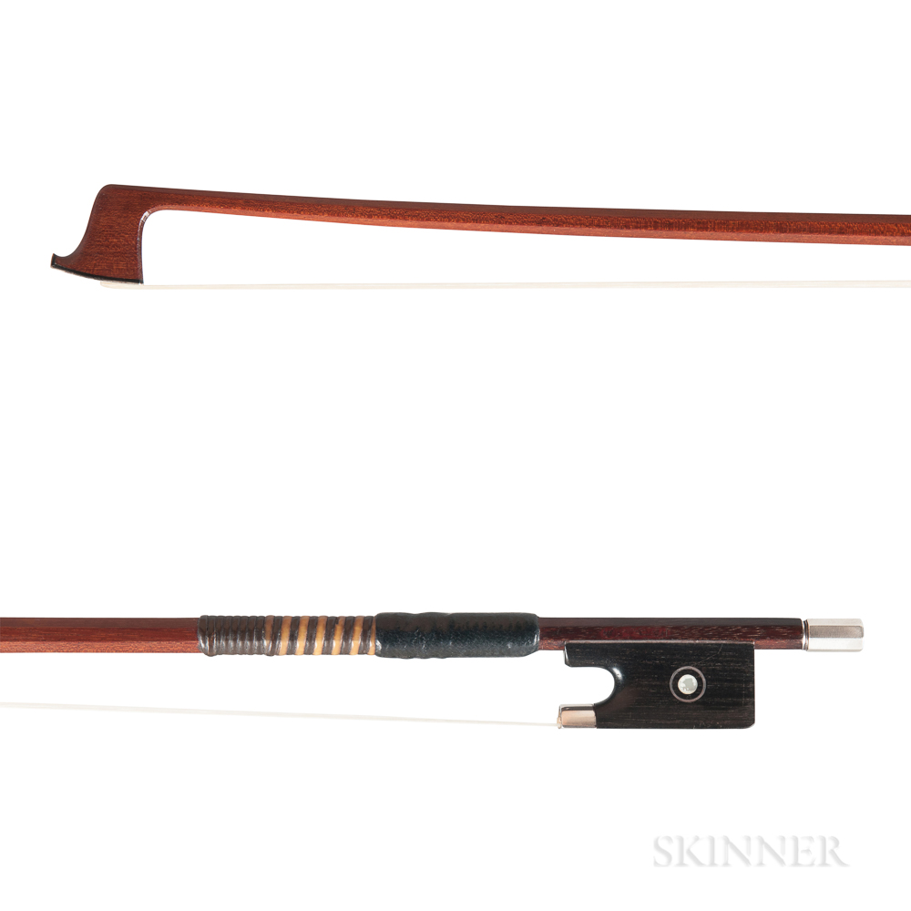 Silver-mounted Violin Bow, Anders Halvarson