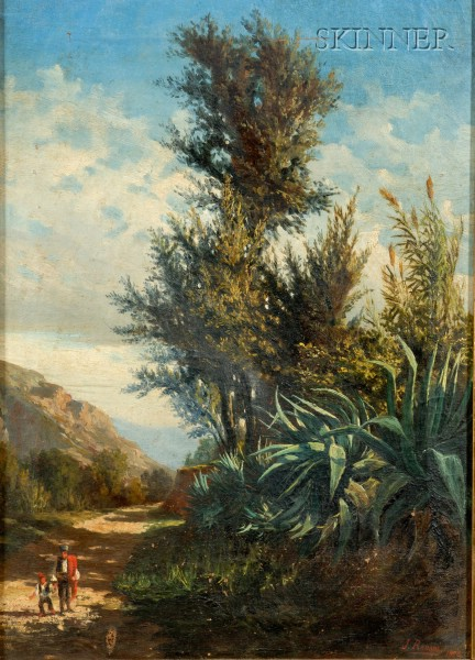 Juan Rabada y Valloe (Spanish, 19th Century)      Lot of Two Landscapes
