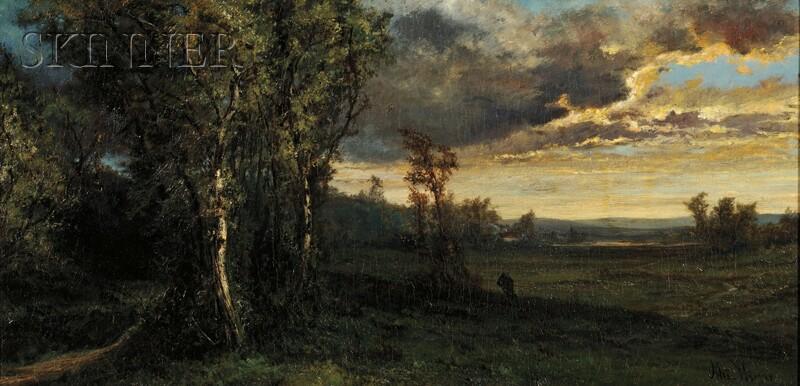 Alexander Wüst (American, 1837-1876)      Evening Landscape
