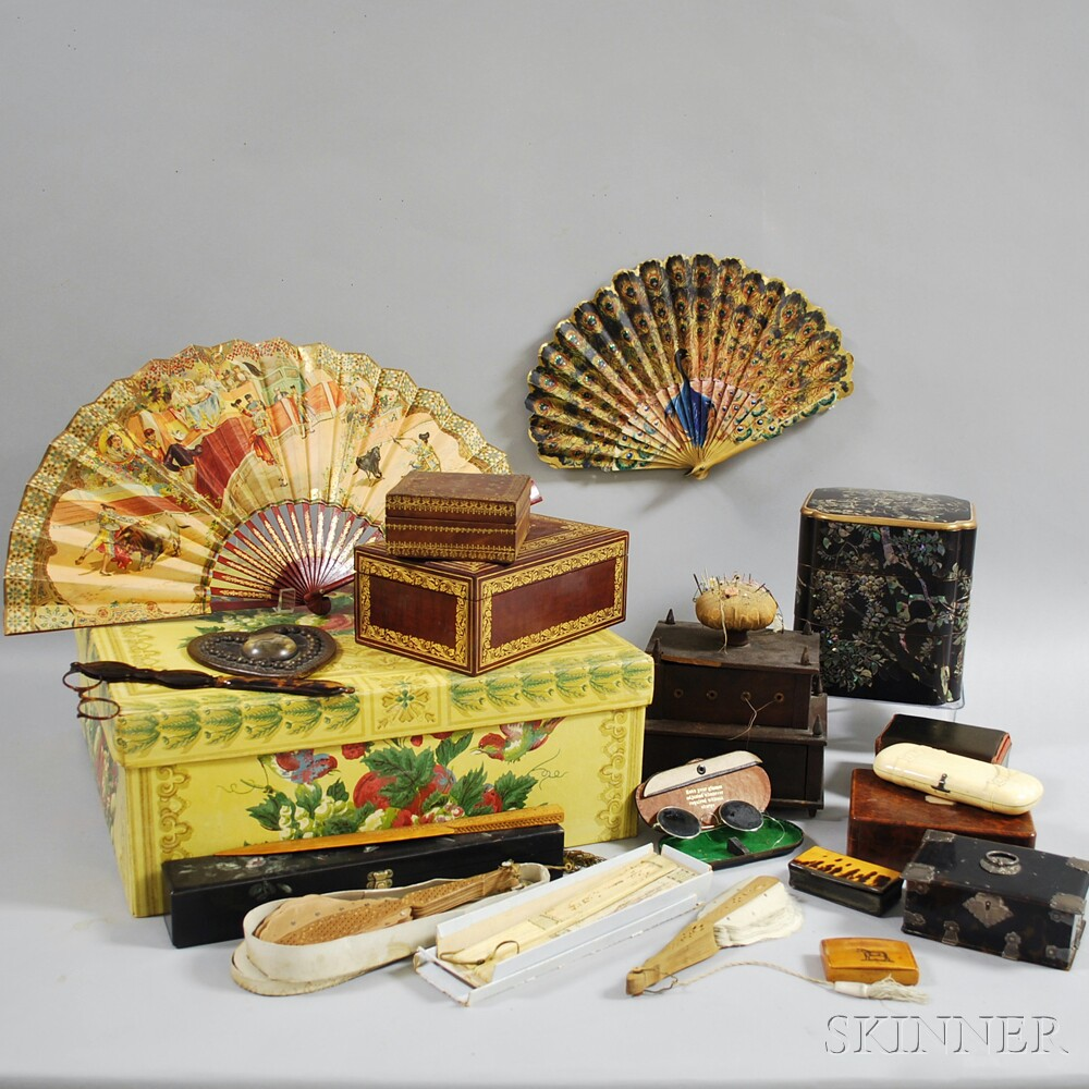 Group of Boxes and Lady's Objects