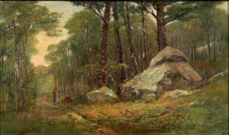 Edward Clarke Cabot (American, 1818-1901)    A New England Wood Path