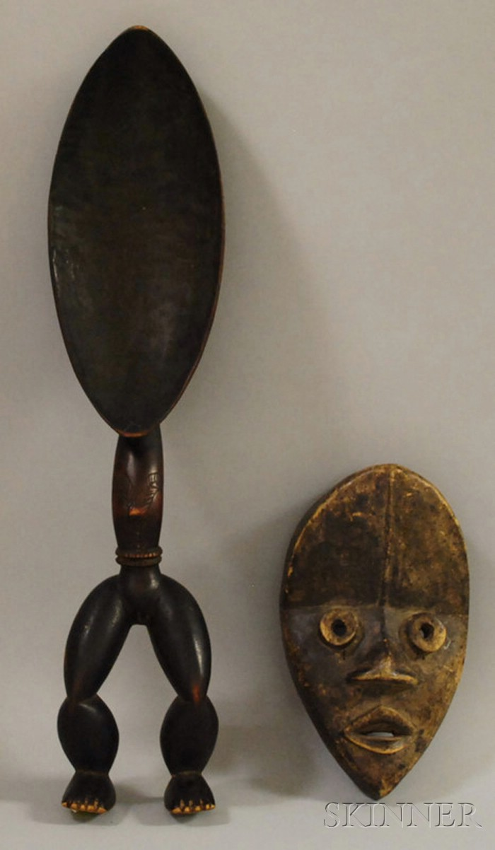 Dan-style Wood Spoon and Mask