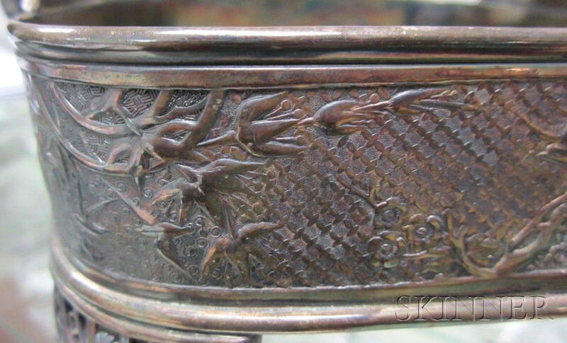 Aesthetic Movement Silver-plated Basket