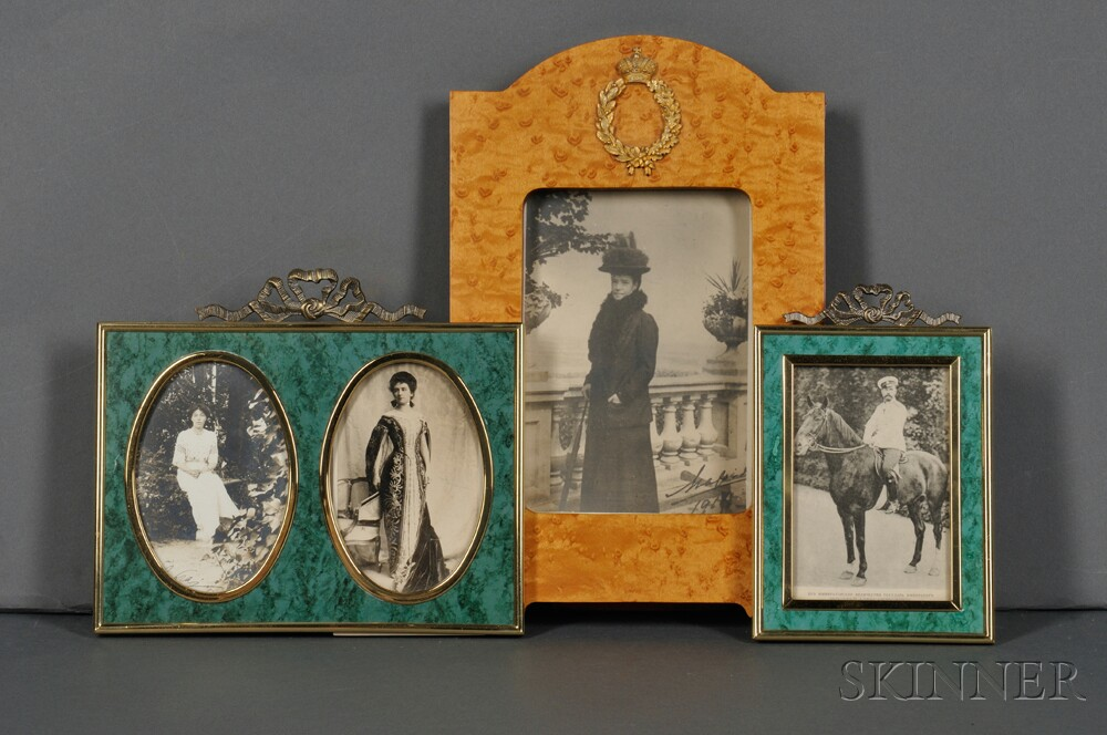 Three Period Photographic Postcards Depicting Members of the Russian Imperial   Family