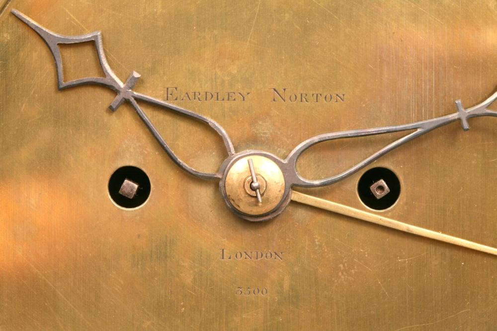 Eardley Norton Ebonized Bracket Clock