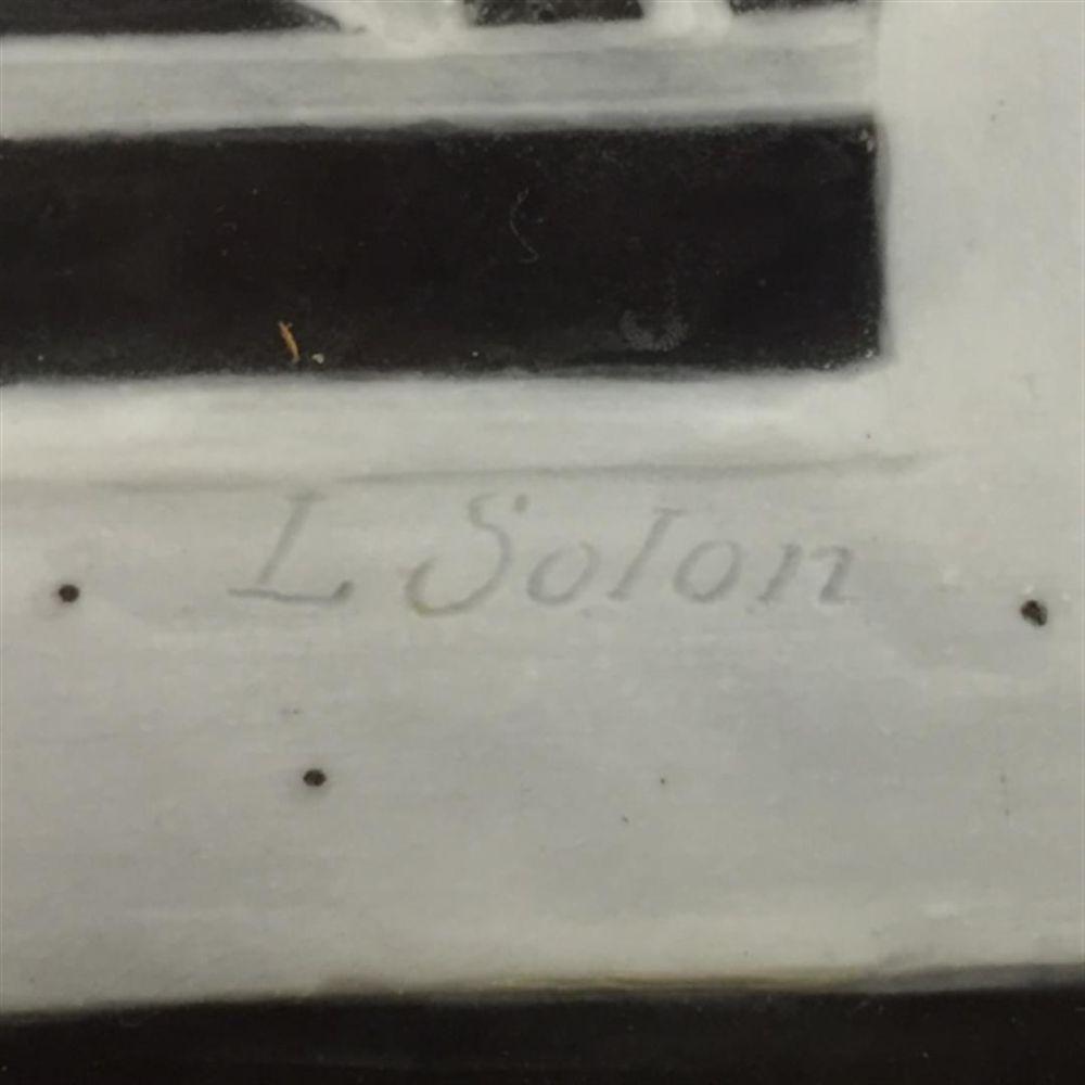 Marc Louis Solon Decorated Pate-sur-Pate Plaque