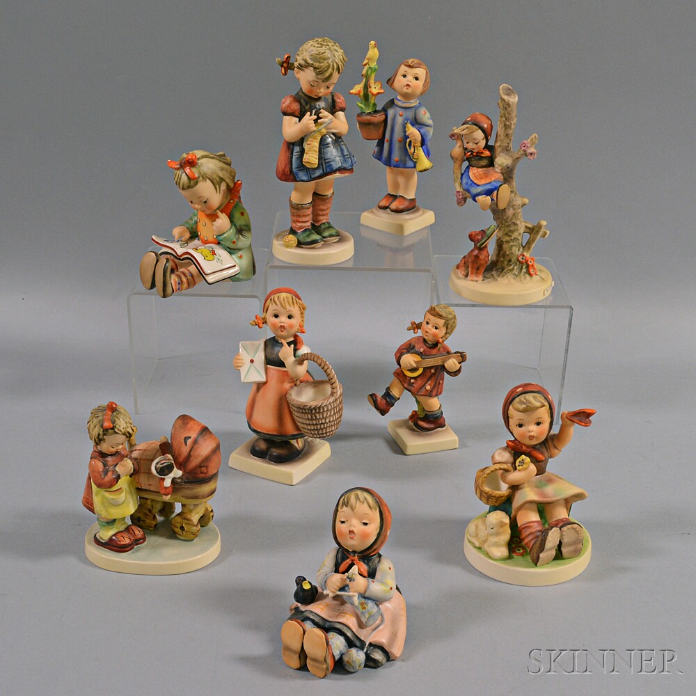 Nine Hummel Figures