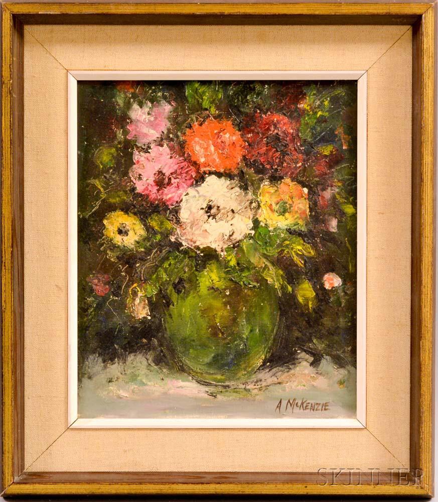 British School, 20th Century    Floral Still Life