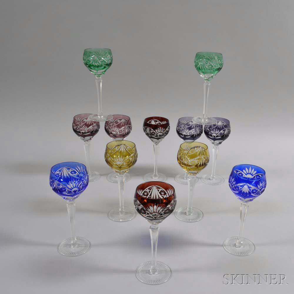 Set of Twelve Cut-to-clear Wineglasses