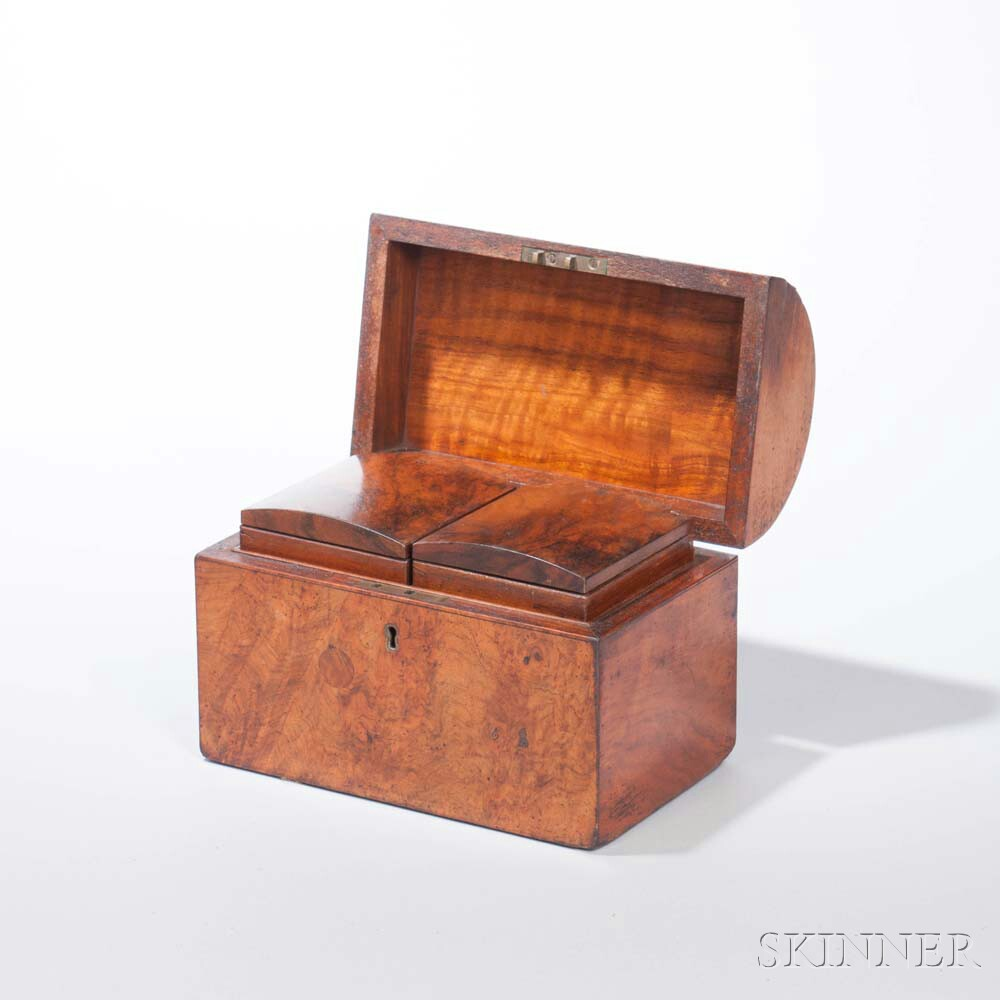 Dome-top Burl Tea Caddy