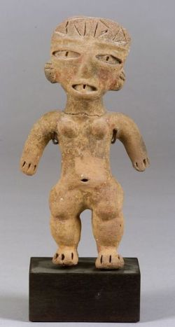 Pre-Columbian Pottery Female Figure