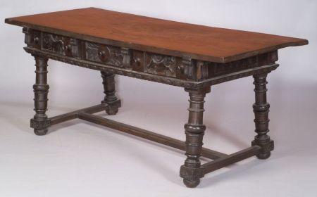 Renaissance Walnut Refectory Table