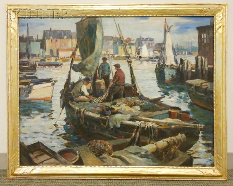 Vladimir Pavlosky (American, 1884-1944)      The Day's Catch