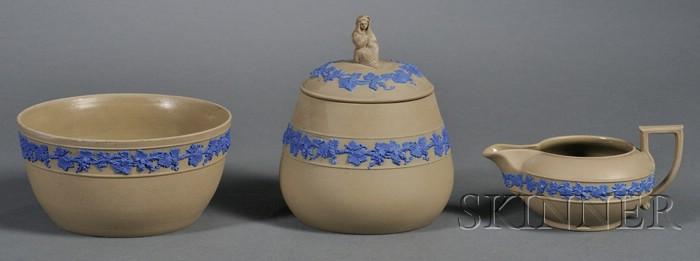 Three Wedgwood Drabware Tea Wares