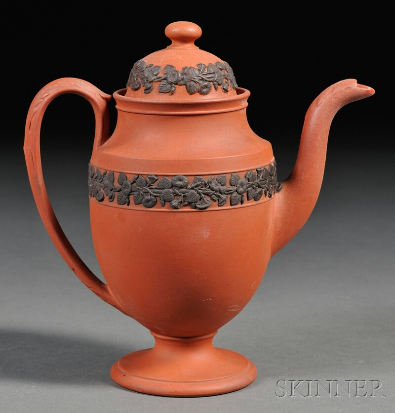 Wedgwood Rosso Antico Coffeepot and Cover