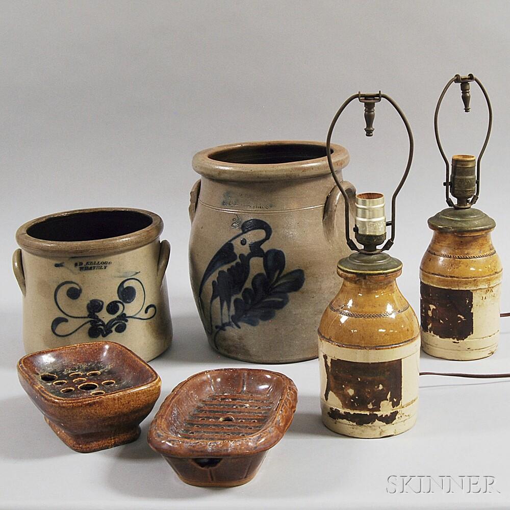 Six Stoneware Items