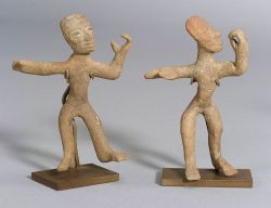 Two Pre-Columbian Pottery Dancing Figures
