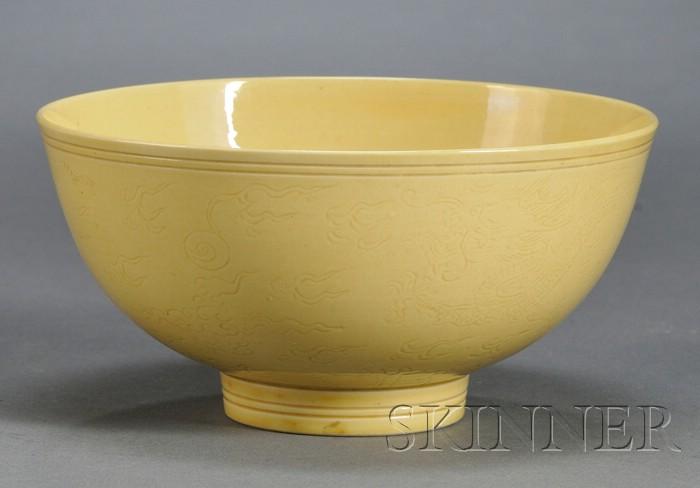 Yellow Glazed Bowl