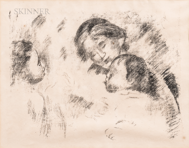 Pierre-Auguste Renoir (French, 1841-1919)      Une mère et deux enfants