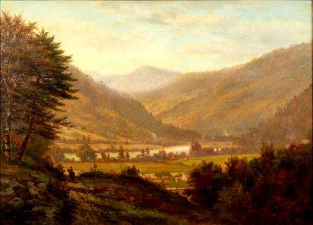 George Frank Higgins (American, 1850-1884)    The Valley Below