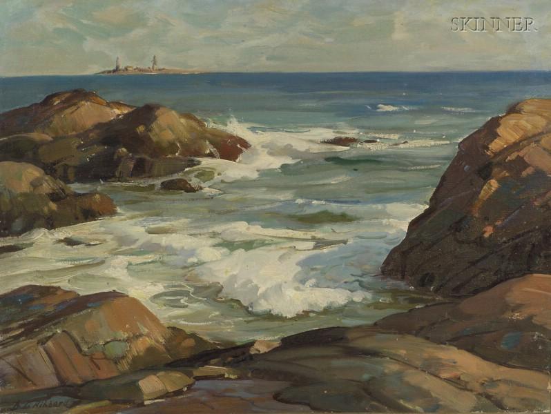 Aldro Thompson Hibbard (American, 1886-1972)      Rocky Shore, Cape Ann