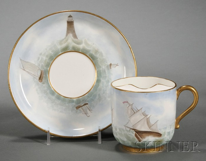 Wedgwood Bone China Mustache Cup and Saucer