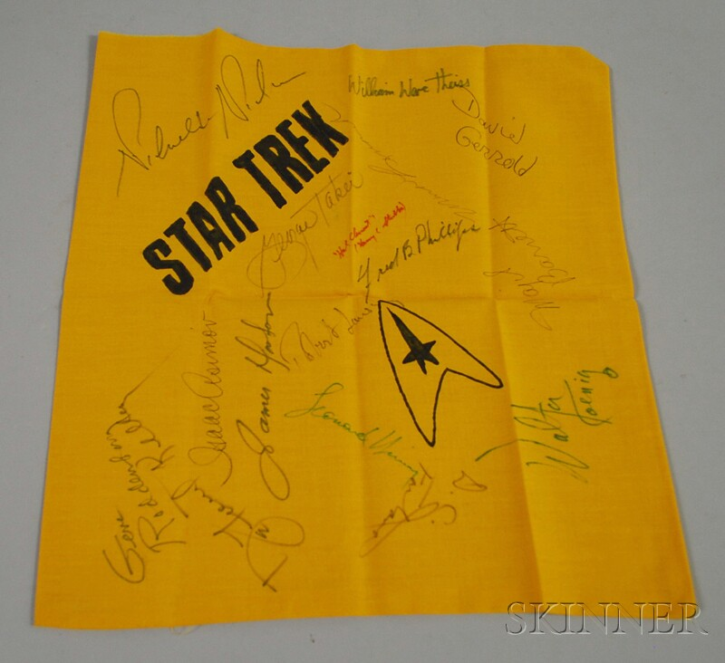 Star Trek Autographed Cloth Panel