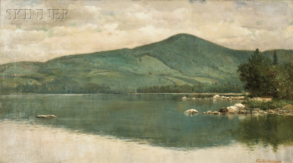 Charles Drew Cahoon (American, 1861-1951)      View of Clearwater Pond, Farmington, Maine