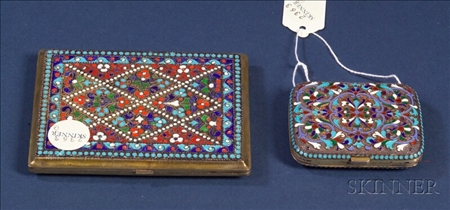 Two Silver Enamel Cases