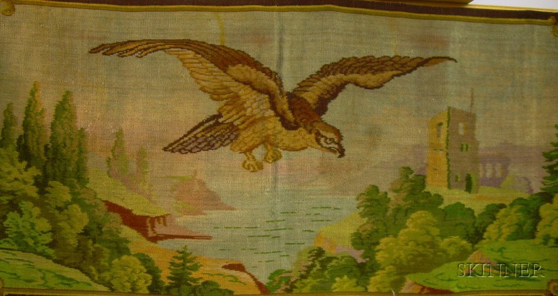 Machine-made Eagle in Landscape Wall Tapestry
