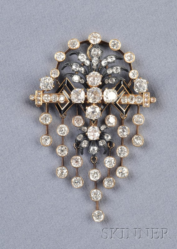 Antique Diamond Pendant/Brooch