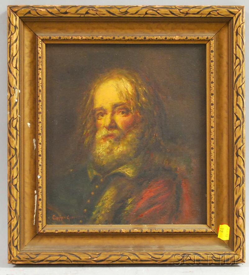 Continental School, 19th Century      Portrait of a Bearded Man.