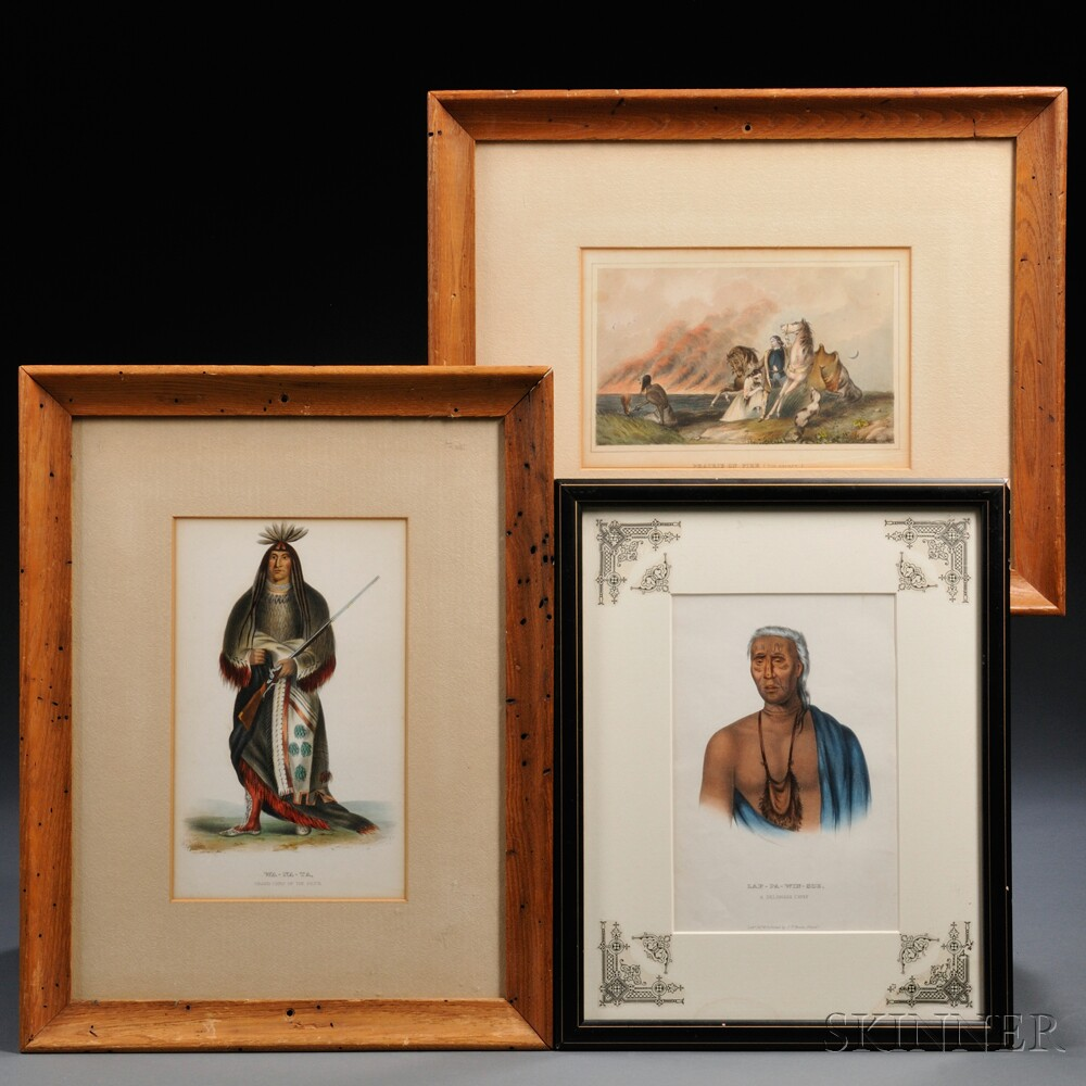 Three Framed Color Lithographs