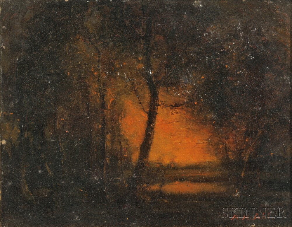 Henry Hammond Ahl (American, 1869-1953)      Afterglow and Reflection