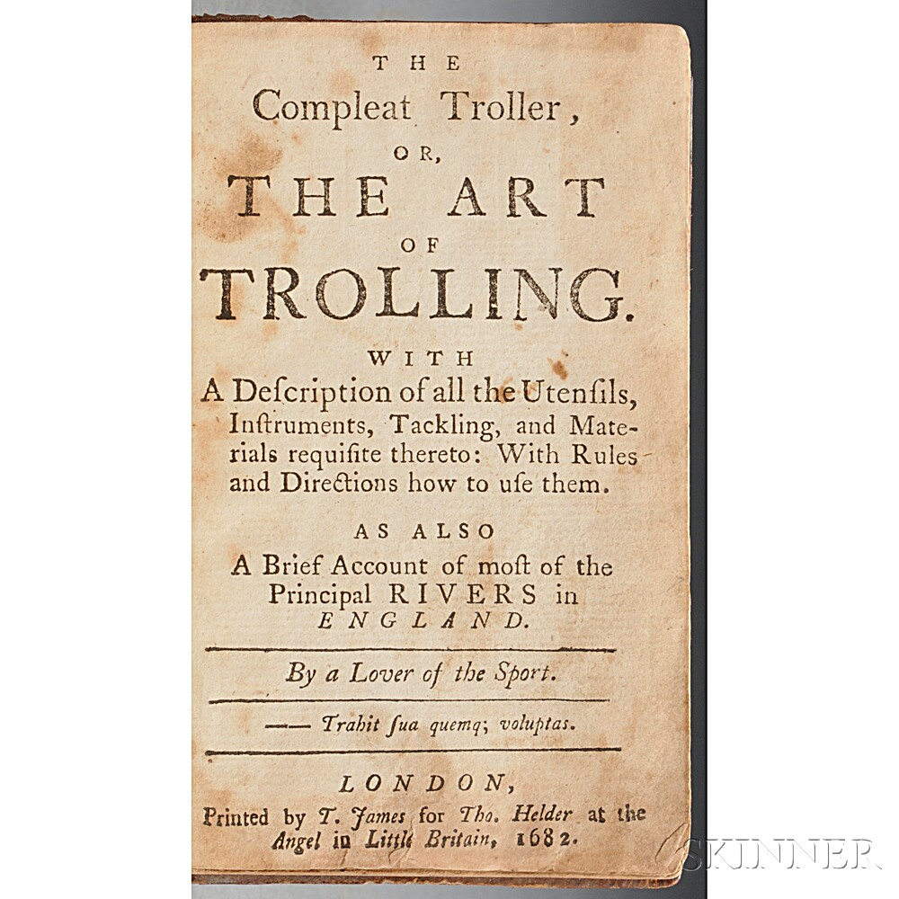 Nobbes, Robert (1652-1706?) The Compleat Troller, or the Art of Trolling.