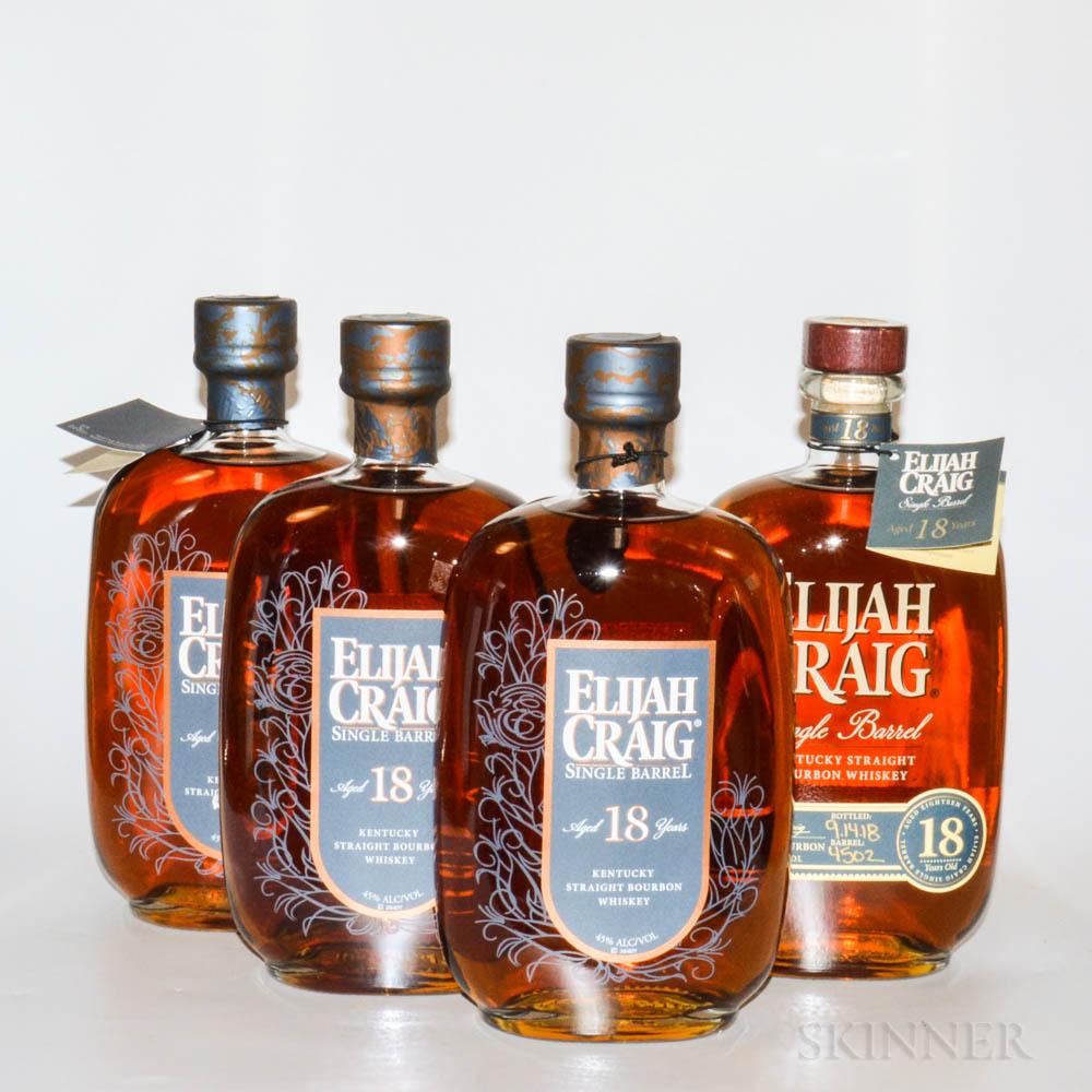 Elijah Craig 18 Years Old, 4 750ml bottles