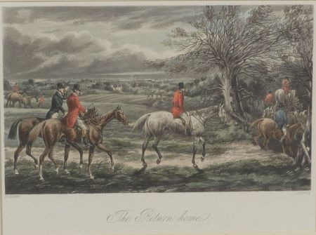 After Henry Alken (British, 1774-1850)    Lot of Four Fox Hunting Scenes.