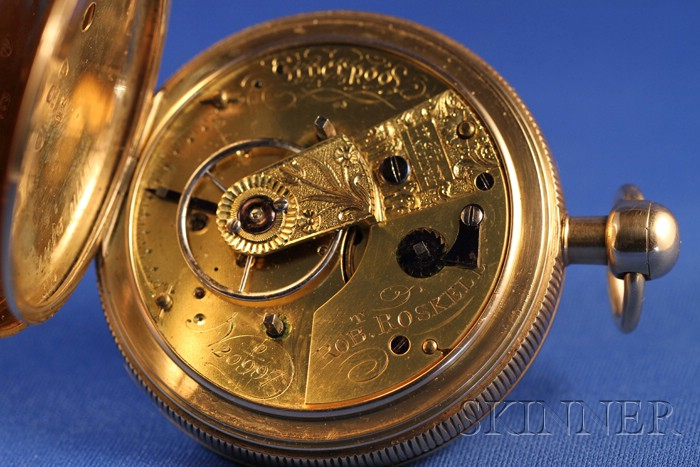 18kt Gold Consular Case Rack Lever Alarm Watch by Robert Roskell